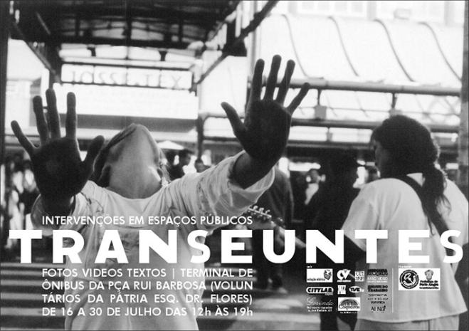 Cartaz Transeuntes Praça Rui Barbosa